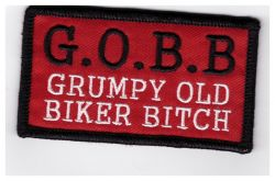 Grumpy Old Biker Bitch Patch