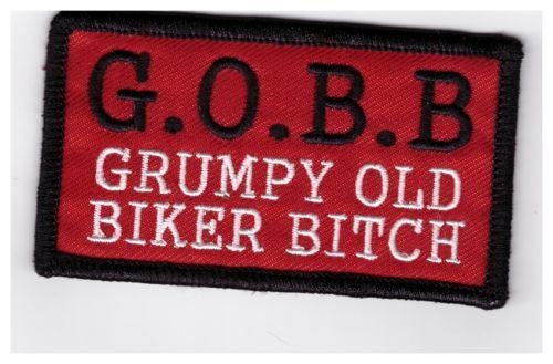 Grumpy Old Biker Bitch Patch