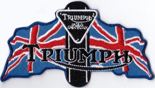 Triumph 2 Flags Patch