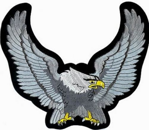 Winged Eagle Silver Back Patch