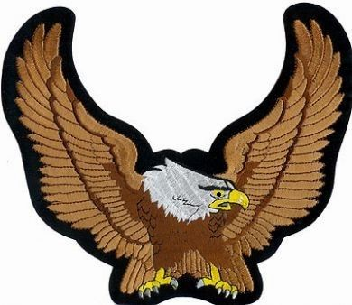 Winged Eagle Brown Back Patch