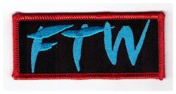 FTW Blue Oblong Patch