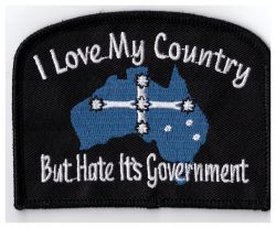 I love my Country Hate Government Patch