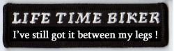 Life Time Biker Patch