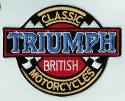 Triumph Classic British Motorcycle Patch