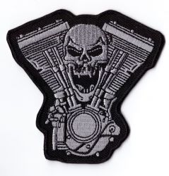V/Twin Skull Patch