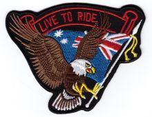 Aussie Live to Ride Patch