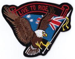 Australia Live to Ride Sml Patch