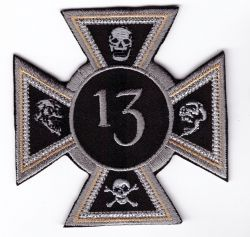 Iron Cross 13 & Skulls Patch