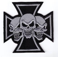 Maltese triple Skulls Patch