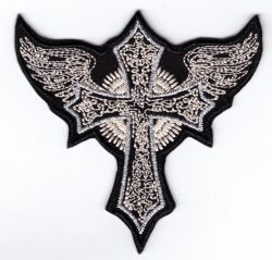 Lace Winged Cross Patch