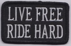 Live Free Script Oblong Patch