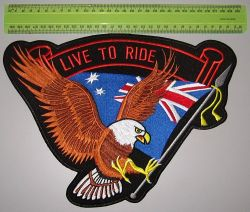 Live to Ride Aussie Back Patch