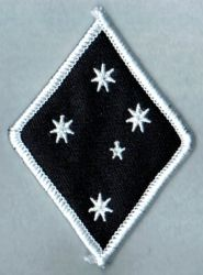 Southern Cross Stars Diamond White Border Patch