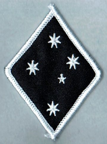 Southern Cross Stars Diamond White Border Patch