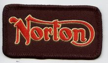 Norton Red & Gold Script Patch