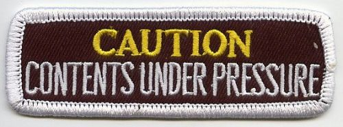 Caution Contents under Pressure Patch