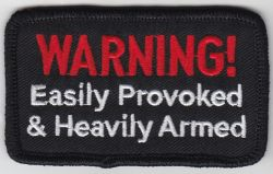 Warning Easily Provoked Patch