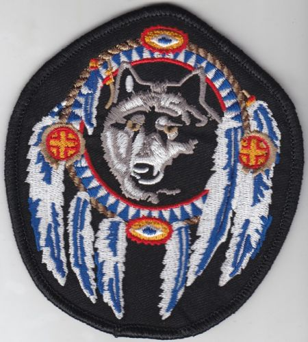 Wolf Dream Catcher Indian Patch
