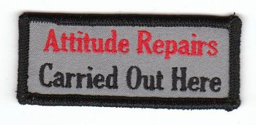 Attitude Repairs Patch