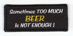 Sometimes too much Beer Patch