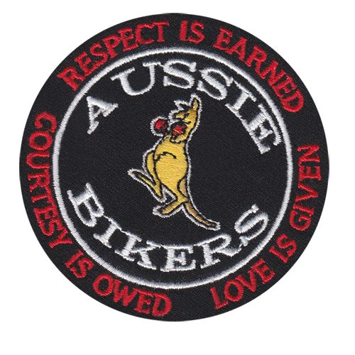 Aussie Bikers Back Patch