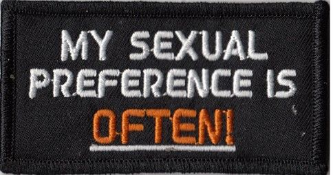 My Sexual Preference Often Patch
