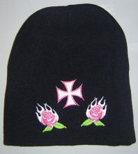 Beanie Pink Iron Cross