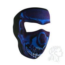 Face Mask Chrome Blue Full Face