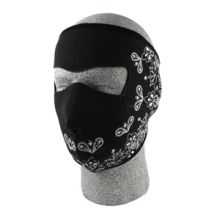 Face Mask Black Paisley