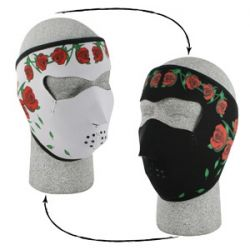 Face Mask Roses Reversable