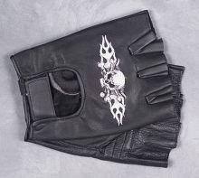 Fingerless Glove Skull Motif