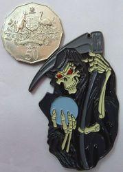 Grim Reaper Red eyes Badge