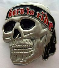 Born to Ride Skull Badge