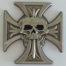Cross with speared Skull Badge