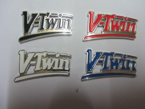 V/Twin Script Badge