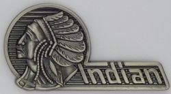 Indian Chief Head on Left Badge