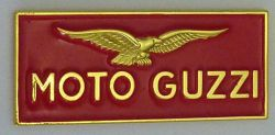 Moto Guzzi Red Oblong Badge