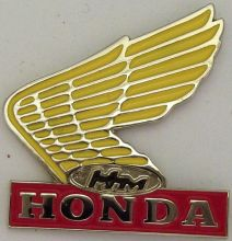 Honda Yellow Wing Badge
