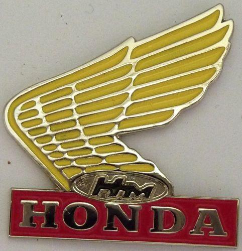 Honda Yellow Wing Badge
