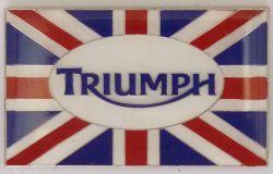 Triumph Oblong Flag Badge