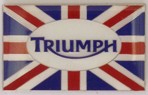 Triumph Oblong Flag Badge