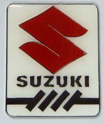 Suzuki Red S Metal Badge