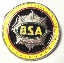 BSA Round Yellow Badge