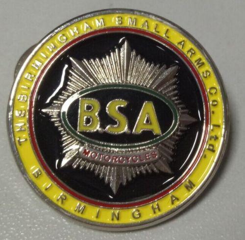 BSA Round Yellow Badge