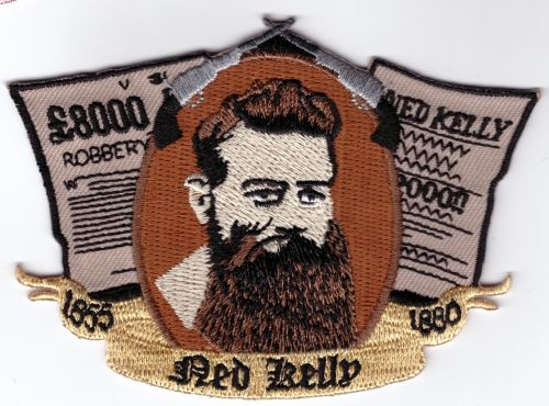 Ned Kelly Robbery embroidered Patch