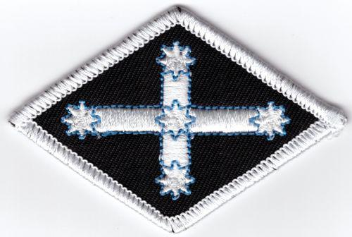 Eureka Diamond White Border Patch
