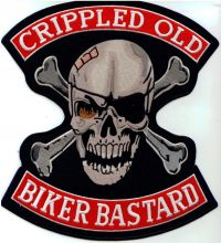 Cripple Old Biker Bastard Back Patch