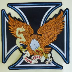 Ride Free Eagle Back Patch