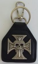 Cross with speared Skull Keyring